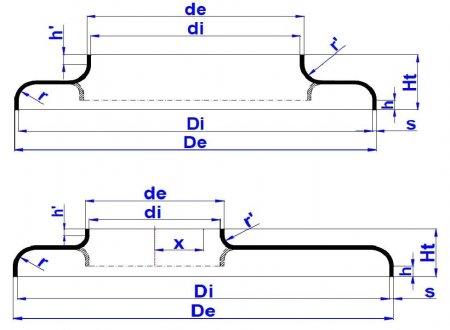 Днище формой сильфона